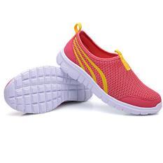 LALANG New Fashion wanita sepatu kasual berjalan sepatu flat murah sejuk semangka merah - ต่าง ประเทศ