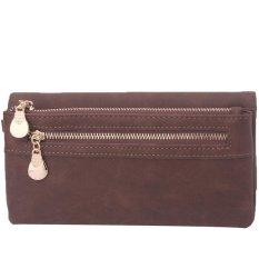 LALANG Vintage Unisex Wallets Dull Polish Long Wallet Purse Wristlet Handbags (Coffee)