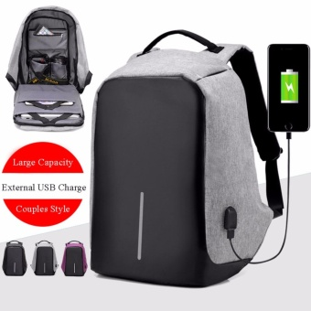 Laptop Backpack External USB Charge Anti-chief Men Women Fashion Backpack Business Travel School Large Capacity - intl