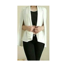 Larisashop Surabaya - Cape Blazer Collection - White