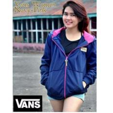 Larisashop Surabaya - Jaket Wanita Vans Navy Pink (Woman Jacket)