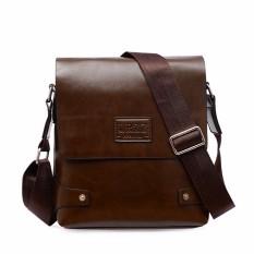 Leather Briefcase Casual Business Messenger Crossbody Handbag Deep