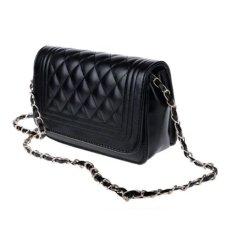 Leather Shoulder Bag - Hitam