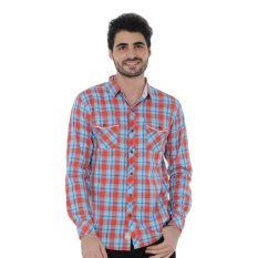 Lee Cooper Kemeja Pria Slim Fit Red Checks Sammy