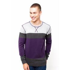 Lee Cooper T-shirt Pria Slim Fit Dark Purple Adam