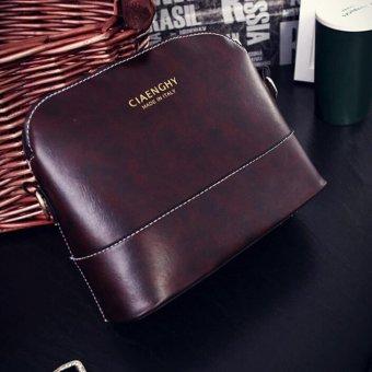 leegoal Womens PU Leather Shoulder Bags Casual Messenger Handbag Dark Brown - intl