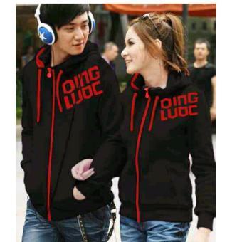 legiONshop-Jaket pasangan/Jaket couple QING LUOC-black sablon red