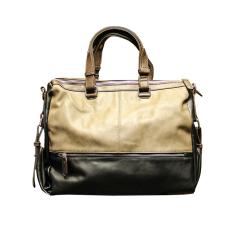 Leisure Handbag Male Korean Bag Shoulder Messenger Bag Crossbody Soft Leather Contrast Color Tote - Intl