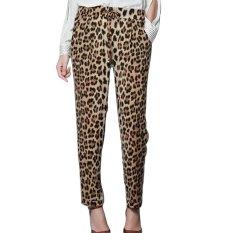 Leopard Print Harem Casual Trousers