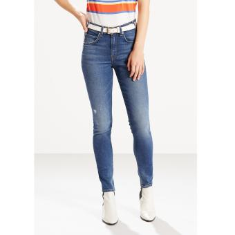Levi's Orange Tab 721 Vintage High Rise Skinny Jeans - Indigo Flicker