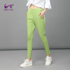 Likener Trend Autumn High Elastic Casual Full Length Slim Harem Celana (Green)