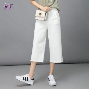 Likener Trend Elastik Setinggi Betis - panjang lebar kaki celana (putih)