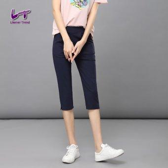 Likener Trend Kasual Wanita Betis - celana panjang celana ramping (Biru Laut)