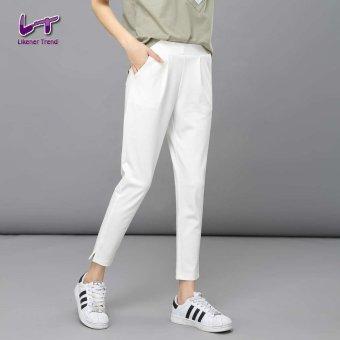 Likener Trend Pergelangan Kaki Elastis Yang Tinggi - Celana Panjang Harem Celana Wanita Celana Biasa (