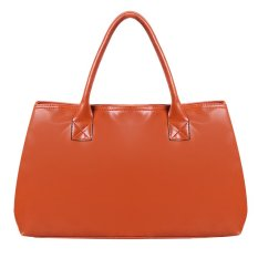 Linemart Faux Leather Women Handbag Ladies Shoulder Top-Handle Bags (Orange)