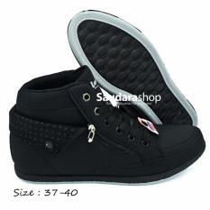 Loggo Panam Sepatu Sekolah Tinggi Cewek [37-40] / Sepatu Sekolah High Hitam