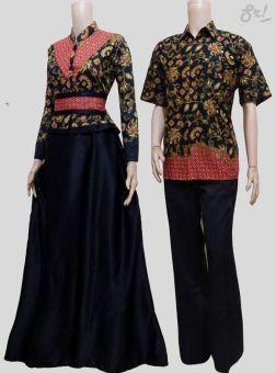 Lokal Batik Couple Gamis Sarimbit Sri Rejeki Solo Bc372