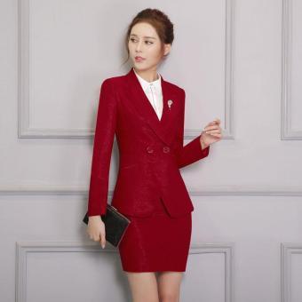33bb58f5a99f95 Long Sleeve Novelty Red Formal Blazers Jackets Coat For Business Women Work  Wear Outwear Professional Office