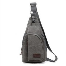 Lovers Canvas Casual Messenger Bag--Boy's Bag (Grey) - Intl