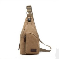 Lovers Canvas Casual Messenger Bag--Girl's Bag (Khaki) - Intl - Intl