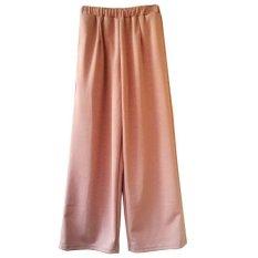 Lstore - Basic Long Cullotes Pants Celana Kulot Panjang Wanita JP148 - Coklat