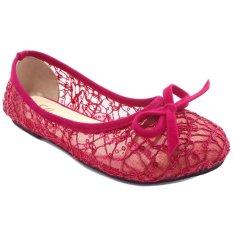 Lunetta Sepatu Anak Flat Shoes Slip On Jaring Pita (Fuchsia)