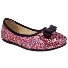 Lunetta Sepatu Anak Perempuan Glitter Pita Elegan - Fuchsia