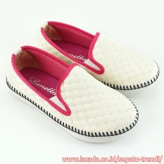Lunetta Sepatu Anak Perempuan Slip On Sol Rajut RJAG - Putih