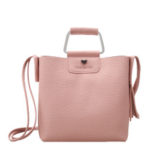 Luxury Tote Handbags Women Tassels Shoulder Messenger Bag Metal Handle Bags All-match Bag Pink