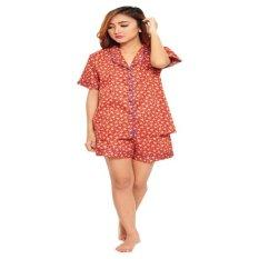 Madeleine Pyjamas Short Pants Pyjamas Leony Red