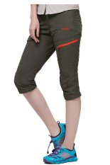 Makino Women's Outdoor Casual Pants Lightweight Quick Dry Straight Pants 3038-2 (Army Green) S (Intl)