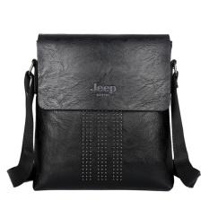 Male Bag Shoulder Bag Men Shaft Aslant Package Crossbody Bag Cowhide Leather Tote Bag Leisure Small Bag Business Clamshell Packages (Black)