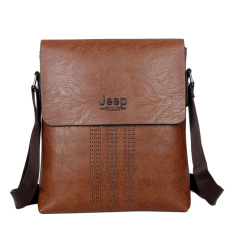 Male Bag Shoulder Bag Men Shaft Aslant Package Crossbody Bag Cowhide Leather Tote Bag Leisure Small Bag Business Clamshell Packages (Brown)