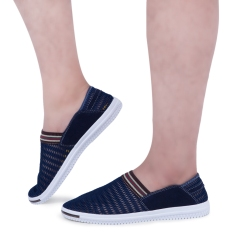 Male Patchwork Elastic Band Mesh Breathable Casual Shoes