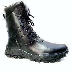 Man Dien PDL TNI Model Jatah Mens Boot Rangers PU Leather TNIPU - Hitam
