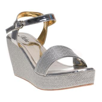 Moya Sepatu Wanita Wedges Ankle Strap Cy07 Salem Daftar Harga Source · Marlee Wedges Wanita MK. Source · Marlee Ankle Strap Glitter Wedges RT-03 Silver