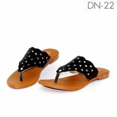 Marlee DN-22 Sandal Flip Flop Flat Wanita - Hitam