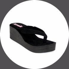 Marlee Flip Flop Spon Wedges NV-01 Hitam