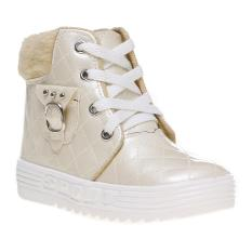 Marlee Glossy Quilted Shoes HN-101 Kids - Cream