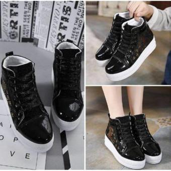 Marlee MA-21 Medium Cut Sneakers Shoes - Hitam