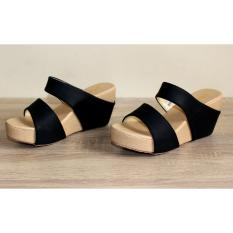 Marlee RT-11 Wedges Sandal - Hitam