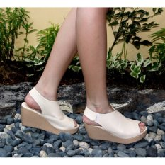 Marlee Wedges Sandal Open Toe - Cream