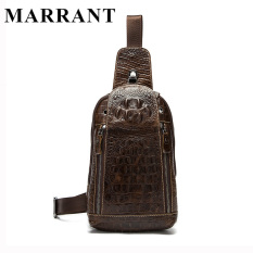 MARRANT Genuine Leather Men Bags Hot Sale Men Crossbody Handbag Alligator Pattern Messenger Bag Male Fashion Shoulder Pack 1311 - intl