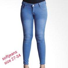 master jeans celana wanita warna esblue polos