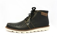 Max Baren's - Leather Boot Shoes - RG201 - Hitam