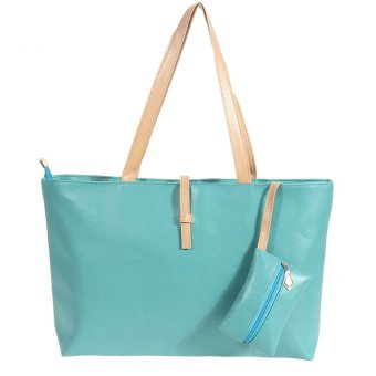 MEGA New Lady Women PU Leather Handbag Shoulder Bag Tote Satchel Bag (Green)