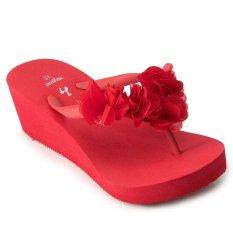Megumi Sandal Anak Iris - Merah