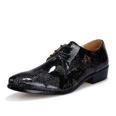Men Business Shoes Formal Genuine Leather Shoes Casual Men Shoes (Black) (EXPORT) - Intl