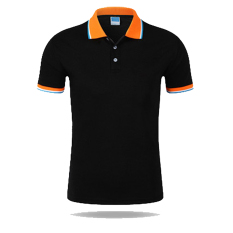 Men Casual Sports Color Blocking Button Short Sleeve Polo Shirt (B-O) - Intl