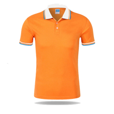 Men Casual Sports Color Blocking Button Short Sleeve Polo Shirt (O-W) - Intl